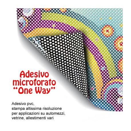 Adesivo pvc microforato